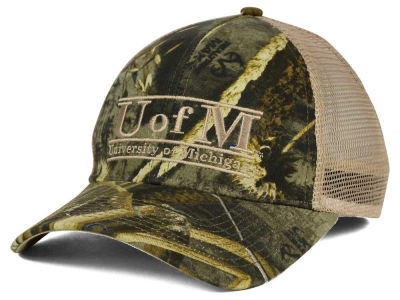 Michigan Wolverines NCAA Camo Mesh Bar Snapback Cap