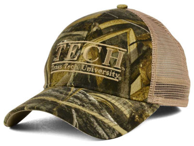 Texas Tech Red Raiders NCAA Camo Mesh Bar Snapback Cap