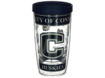 Connecticut Huskies 16oz Wrap Tumbler With Lid
