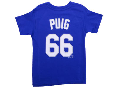 Los Angeles Dodgers Yasiel Puig MLB Kids Name & Number T-Shirt