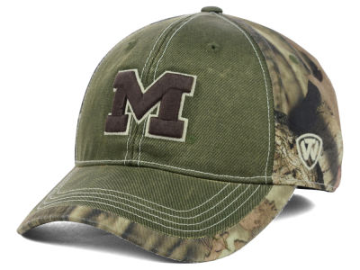 Michigan Wolverines Top of the World NCAA Laylow Camo One-Fit Cap