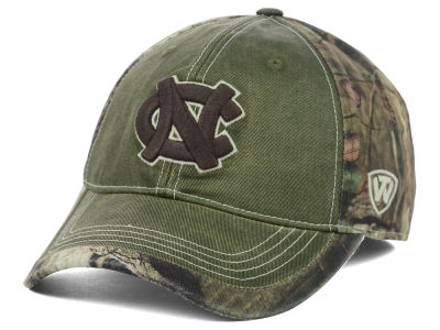 North Carolina Tar Heels Top of the World NCAA Laylow Camo One-Fit Cap