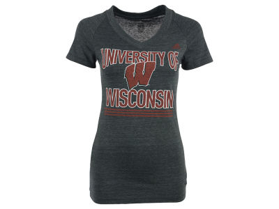 Wisconsin Badgers adidas NCAA With Honors V-Neck T-Shirt