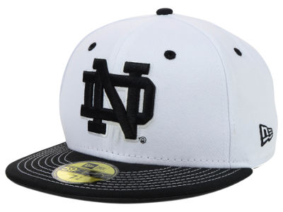 Notre Dame Fighting Irish New Era NCAA White Black 59FIFTY Cap