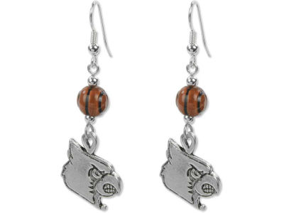 Louisville Cardinals Dangle Basketball Earrings