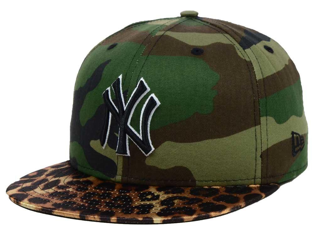 New York Yankees New Era MLB Camo Pop Leopard Vize 59FIFTY Cap ... d975ab6ff05