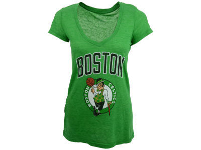 Boston Celtics NBA Womens Triblend Vneck T-Shirt