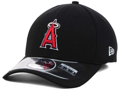 Los Angeles Angels New Era MLB Diamond Era Black 39THIRTY Cap