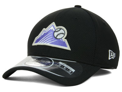 Colorado Rockies New Era MLB Diamond Era Black 39THIRTY Cap