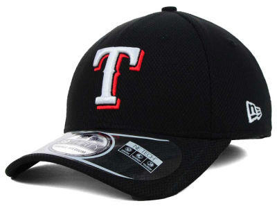Texas Rangers New Era MLB Diamond Era Black 39THIRTY Cap