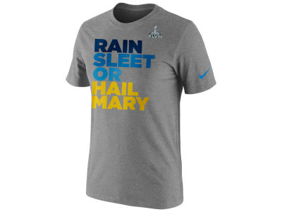 Super Bowl XLVIII Nike NFL Super Bowl XLVIII Rain Sleet Hail Mary T-Shirt