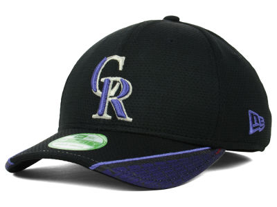 Colorado Rockies New Era MLB Youth Vertical Strike 39THIRTY Cap