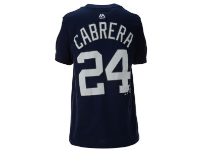 Detroit Tigers Miguel Cabrera Majestic MLB Youth Official Player T-Shirt