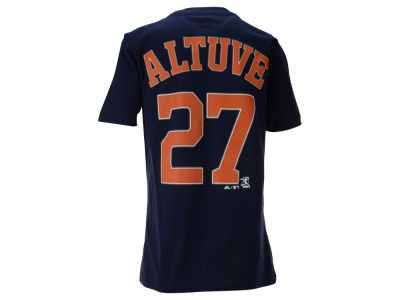 Houston Astros Jose Altuve Majestic MLB Youth Official Player T-Shirt