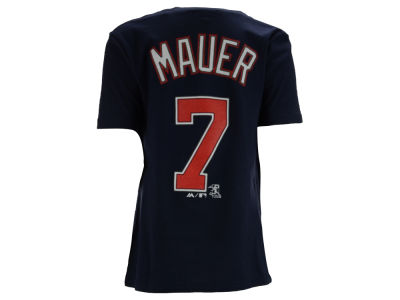 Minnesota Twins Joe Mauer Majestic MLB Youth Official Player T-Shirt
