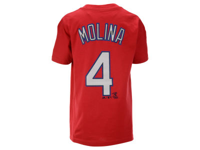 St. Louis Cardinals Yadier Molina Majestic MLB Youth Official Player T-Shirt