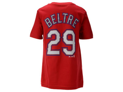 Texas Rangers Adrian Beltre Majestic MLB Youth Official Player T-Shirt