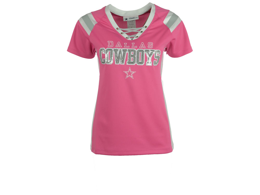 ... Dallas Cowboys NFL Womens Lace Up T-Shirt ... 4420c83ac