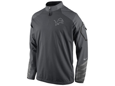 Detroit Lions Nike NFL Men's Platinum Fly Rush 2.0 1/4 Zip Pullover Shirt