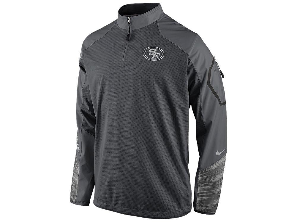 6c816310 San Francisco 49ers Nike NFL Men's Platinum Fly Rush 2.0 1/4 Zip Pullover  Shirt