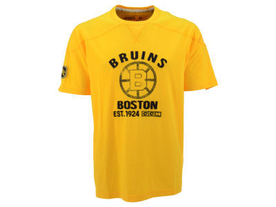 Boston Bruins Reebok NHL CCM Applique T-Shirt