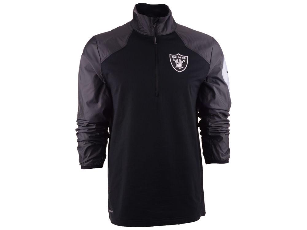 pretty nice 69ed1 0d14c Oakland Raiders Nike NFL Defender Hybrid Half Zip Jacket