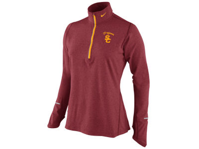 USC Trojans Nike NCAA Womens DF Heathered Element Half Zip Pullover