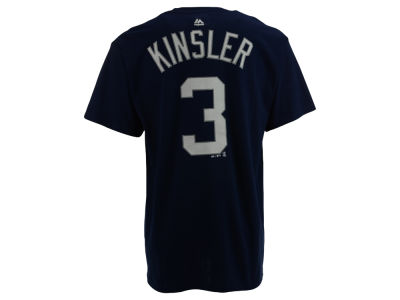 Detroit Tigers Ian Kinsler Majestic MLB Men's Official Player T-Shirt