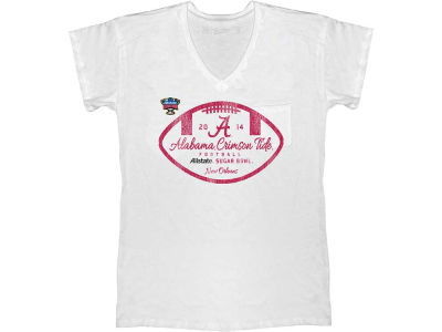 Alabama Crimson Tide NCAA Women's 2014 Sugar Bowl Deep V-Neck T-Shirt