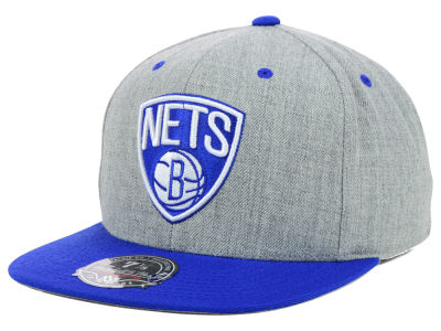 Brooklyn Nets Mitchell and Ness NBA 2-Tone High Crown Fitted Cap