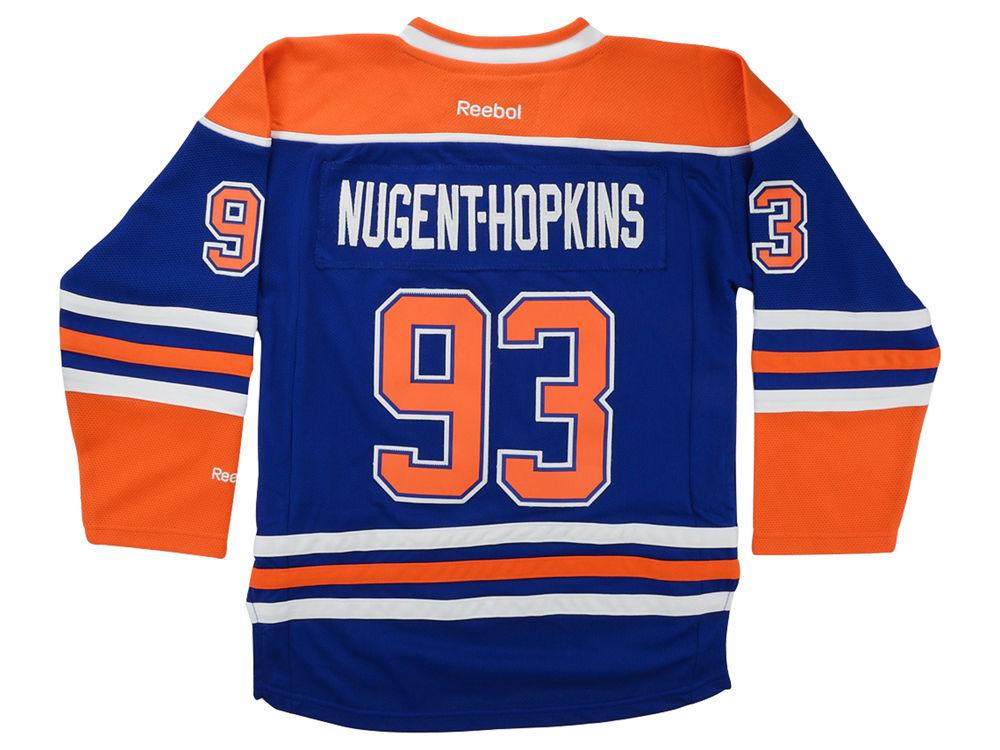 Edmonton Oilers Ryan Nugent-Hopkins Reebok NHL CN Youth Premier Player  Jersey  3fab39d3a