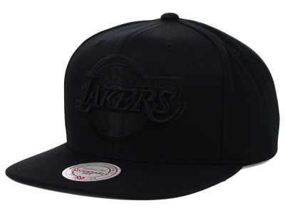 Los Angeles Lakers Mitchell and Ness NBA Team BW Snapback Hat