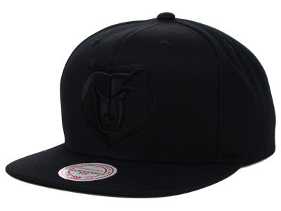 Memphis Grizzlies Mitchell and Ness NBA Team BW Snapback Hat