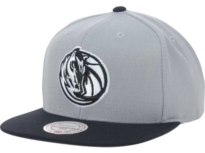 Dallas Mavericks Mitchell & Ness NBA Team BW Snapback Hat