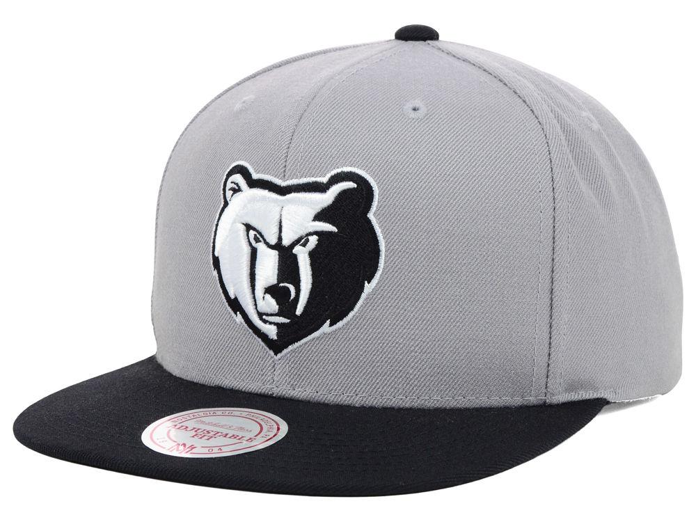 801f6648 Memphis Grizzlies Mitchell & Ness NBA Team BW Snapback Hat   lids.com