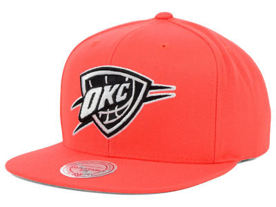 Oklahoma City Thunder Mitchell & Ness NBA Team BW Snapback Hat