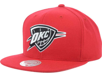 Oklahoma City Thunder Mitchell and Ness NBA Team BW Snapback Hat