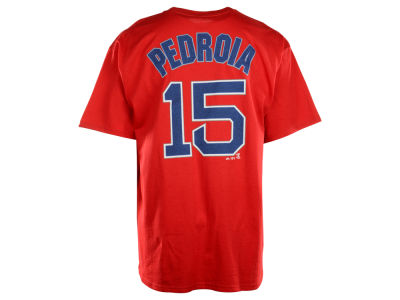 Boston Red Sox Dustin Pedroia Majestic MLB Men s Official Player T-Shirt e2c4585e928