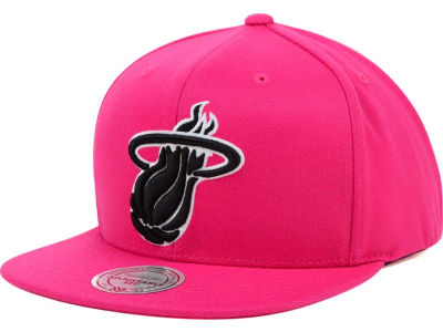 Miami Heat Mitchell & Ness NBA Team BW Snapback Hat
