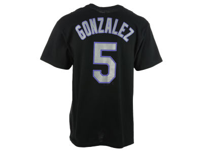Colorado Rockies Carlos Gonzalez Majestic MLB Men's Official Player T-Shirt