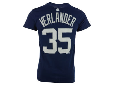 Detroit Tigers Justin Verlander Majestic MLB Men's Official Player T-Shirt