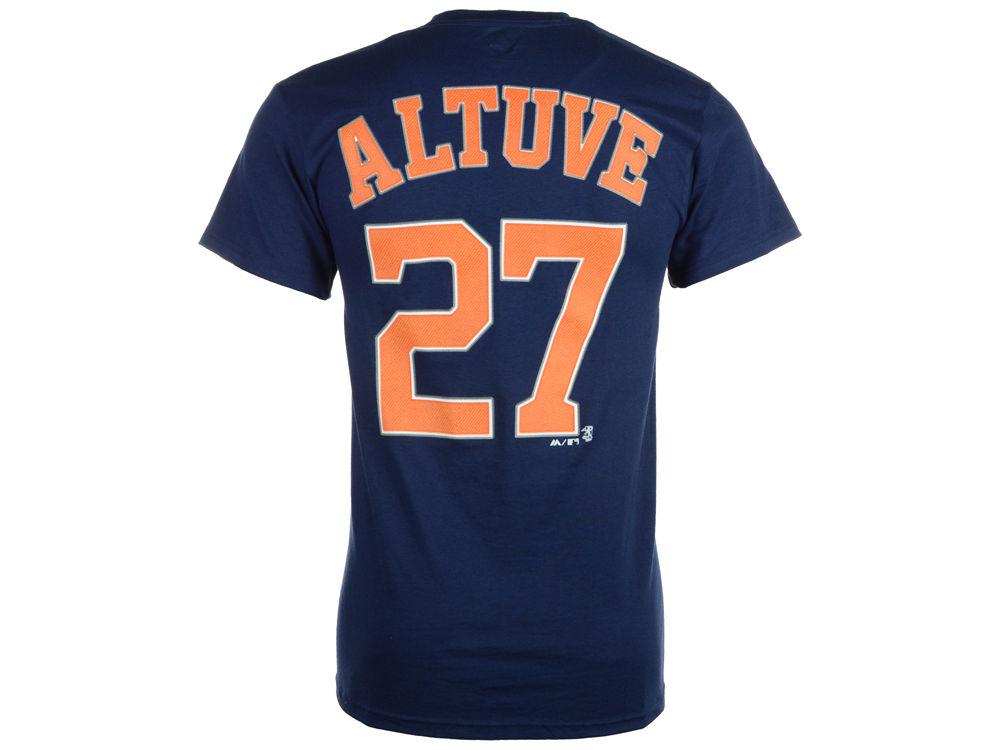 4d3ac4731 Houston Astros Jose Altuve Majestic MLB Men s Official Player T-Shirt