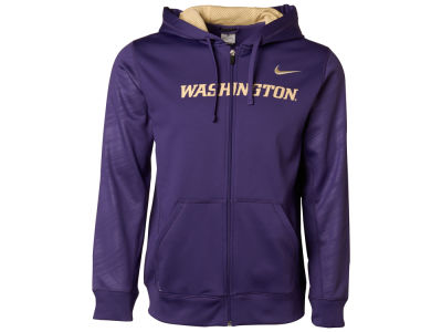 Washington Huskies Nike NCAA Warp KO Full Zip Hoodie