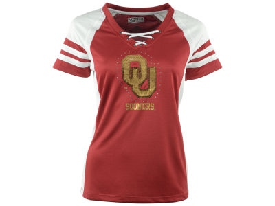 Oklahoma Sooners NCAA Women's Final Quarter Lace Up T-Shirt