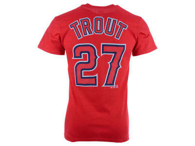 Los Angeles Angels Mike Trout Majestic MLB Men's Official Player T-Shirt