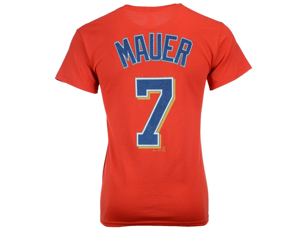 f12b291e252 Minnesota Twins Joe Mauer Majestic MLB Men's Official Player T-Shirt |  lids.com