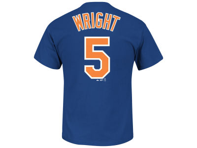New York Mets David Wright Majestic MLB Men's Official Player T-Shirt