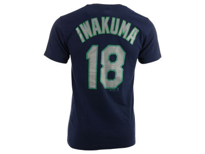 Seattle Mariners Hisashi Iwakuma Majestic MLB Men's Official Player T-Shirt