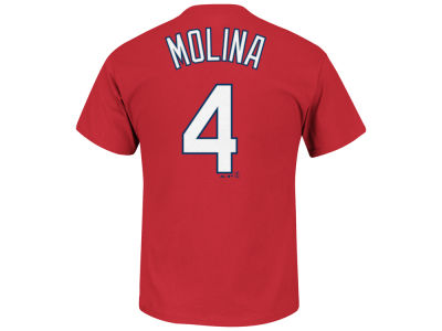 St. Louis Cardinals Yadier Molina Majestic MLB Men's Official Player T-Shirt