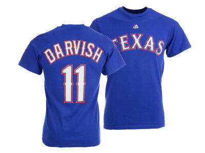 Texas Rangers Yu Darvish Majestic MLB Men's Official Player T-Shirt